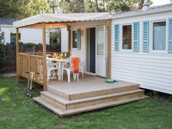 Mobilheim Chêne 2 Zimmer - Halbüberdachte Terrasse : Camping La ...