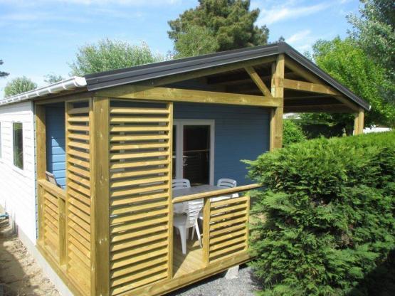 Chalet PMR 2ch avec terrasse bois couverte (Année 2017 ...