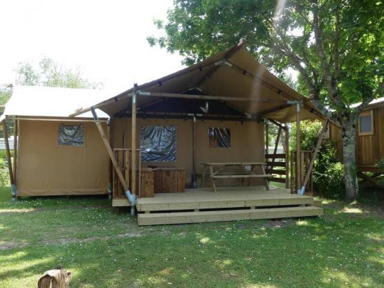 Tente Luxury Lodge PREMIUM +40m² - 2 Zimmer, gedeckte ...