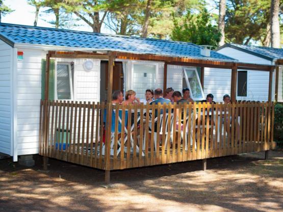 Mobil home Chene confort, 2 chambres + TV + Terrasse bois semi ...