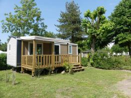 Mobil home CONFORT +- 27m² - 2 chambres + terrasse couverte