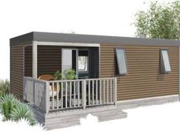 Mobil home Terrasse 4 pers premium Les Flots: 25.60 m² + 6.70 m²partly covered terrace